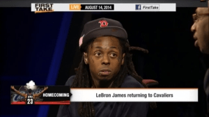 LIL WAYNE RETURNS TO 'FIRST TAKE' And Drop Talks